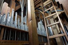 Der Aufbau der Orgel